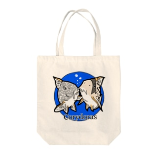 The Cute Corydoras (blue) Tote bags