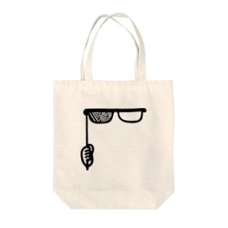 メガネ Tote bags