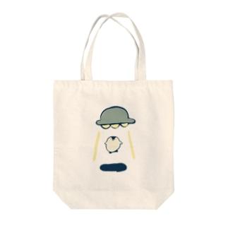 アブダクションされるペンギン Tote bags