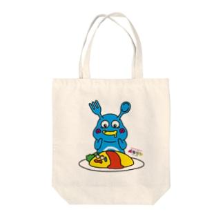 ペコモン&オムライス Tote bags