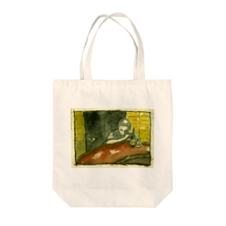 a drinking prayer  Tote bags
