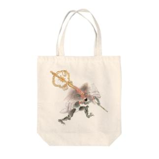 百鬼夜行絵巻 笙の付喪神【絵巻物・妖怪・かわいい】 Tote bags