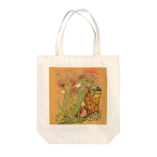 pf01-03: under the flower トートバッグ Tote bags