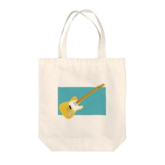 きいろいギター(背景:新橋色) Tote bags