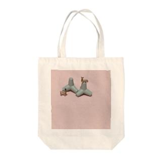 鹿と消波ブロック Tote bags