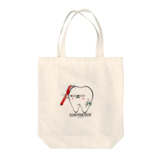 Toothくん 歯磨き Tote bags