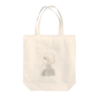 Waiting for spring  Tote bags