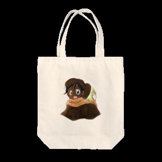 まきむらの黒白マフラー Tote bags