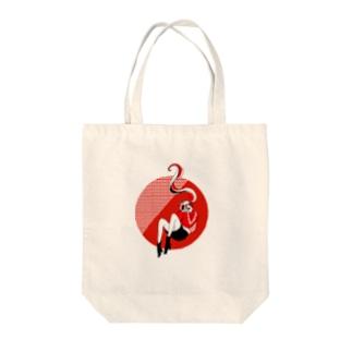落下真っ赤 Tote bags