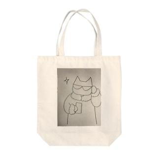 きらりんネコ Tote bags