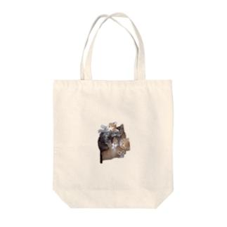 ニャンニャンズ Tote bags