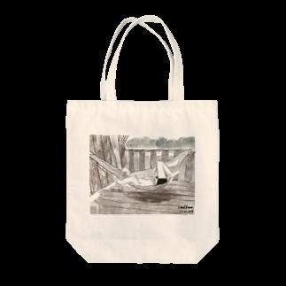 いすやますみえのハンモックで寝るジョセフ Tote bags