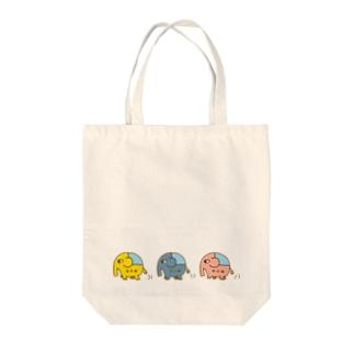 ジャーゾウの行進 Tote bags