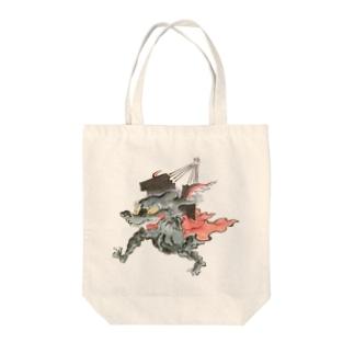 百鬼夜行絵巻 扇の付喪神【絵巻物・妖怪・かわいい】 Tote bags
