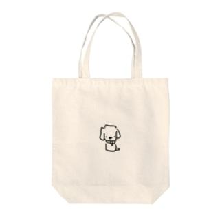 ヒカリワンコ Tote bags