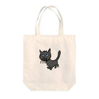 ひげネコ Tote bags
