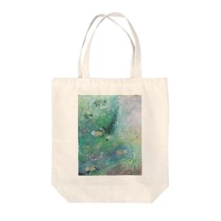 水面のミルフィーユ Tote bags