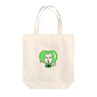 おにぎりを食べるエダマメちゃん Tote bags