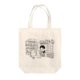 のぞみちゃんとサロンモザイク Tote bags