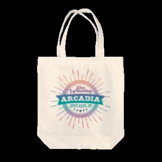 HAKO NO KIMAGUREのPRO WRESTLING ARCADIA Tote bags