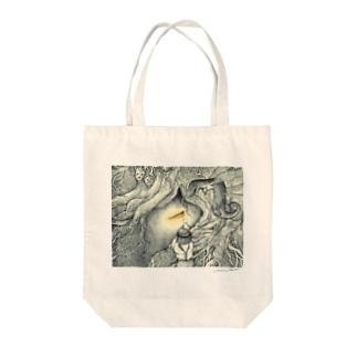 少年とひかりの木 Tote bags