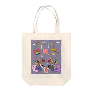 ピピロピロシリーズ Tote bags