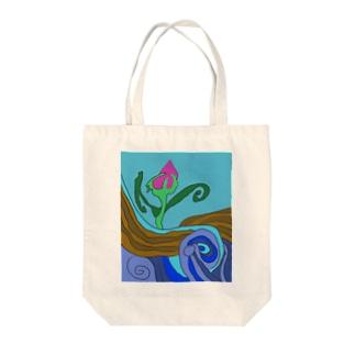 JUNSEN(純仙)大地の水脈 Tote bags