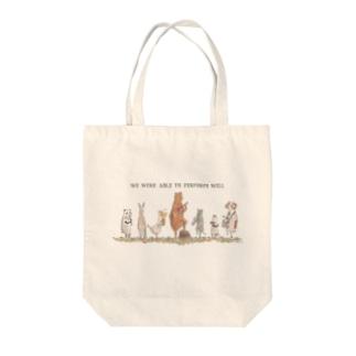 アニマル音楽隊 Tote bags