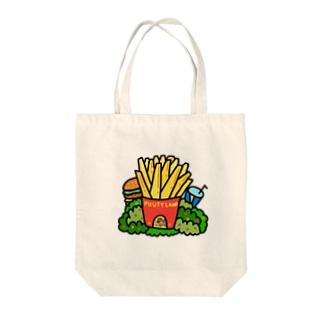 ポテトハウス Tote bags