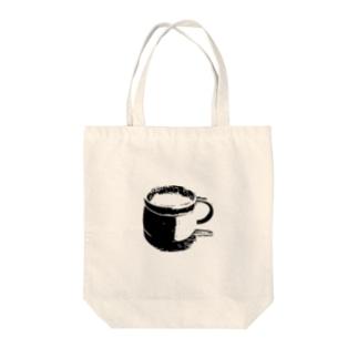 コーヒーカップ Tote bags