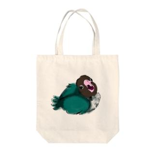 ブルーボタンインコの雛 Tote bags