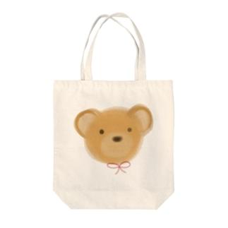 くま Tote bags