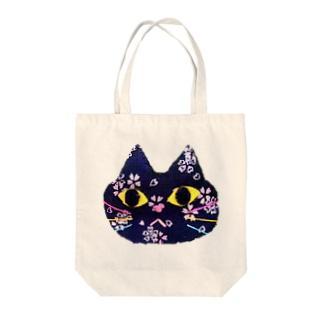 ねこ(和柄) Tote bags