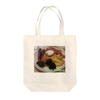 English breakfast Tote bags