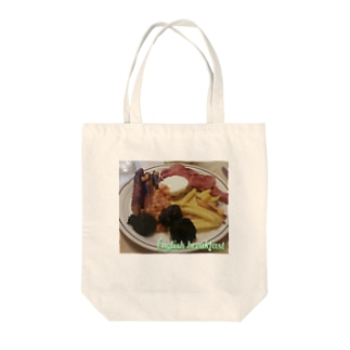 English breakfast Tote bags