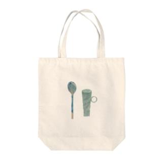 匙と茶器 Tote bags
