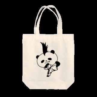 NAGOMI-Creationの【かっこいいのに可愛いパンダ】モヒカンパンダの空手上段蹴り Tote bags