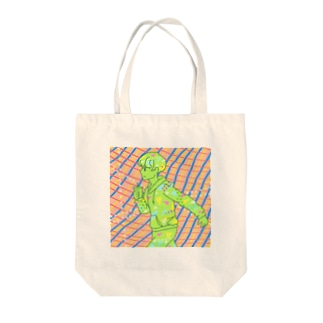 【イラスト】「突き進め 新境地」 Tote bags