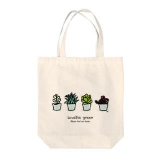 多肉植物 トートバッグ