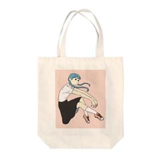 おさげの子 Tote bags