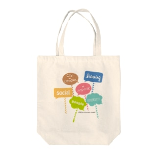 京都カラスマ大学のカラフルメッセージ Tote bags