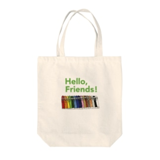 「Hello, Friends!」クレヨンくん Tote bags