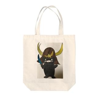 武士クロちゃん Tote bags