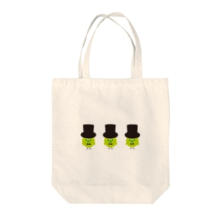 three green birds Tote bags