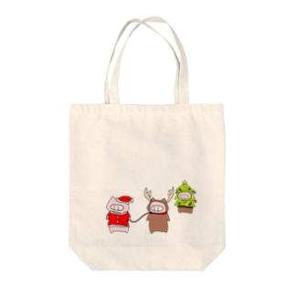 きせかえぶた(クリスマスver) Tote bags