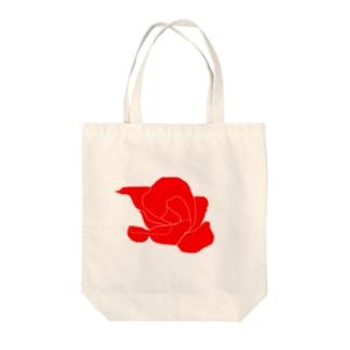 赤いバラのイラスト Tote bags