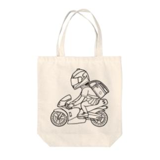 ポケバイ Tote bags