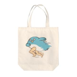 走る!鯉人間 Tote bags