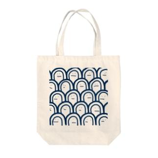 かお Tote bags