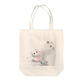 パパンダ Tote bags